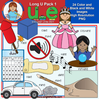 Clip Art - Long U Pack 1 (u-e)