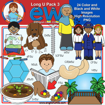 Clip Art - Long U Pack 3 (ew)