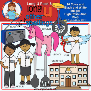 Clip Art - Long U Pack 6 (other spellings)