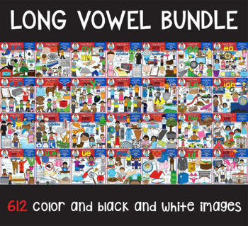 Clip Art - Long Vowels Mega Bundle