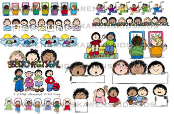 Clip Art MORE SCHOOL DAYS KIDS