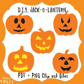 Clip art: Make your own Jack O Lantern
