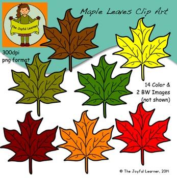 Clip Art: Maple Leaves (free)