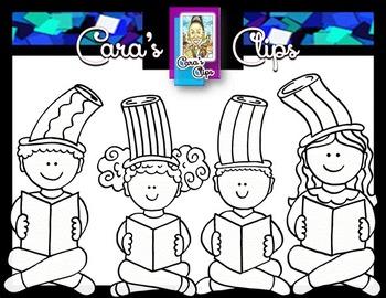 Clip Art~ March Reading Kids Freebie!