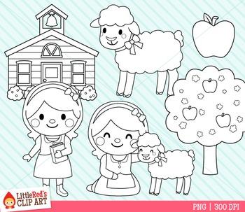 Mary Had a Little Lamb Clip Art by LittleRed | Teachers ...