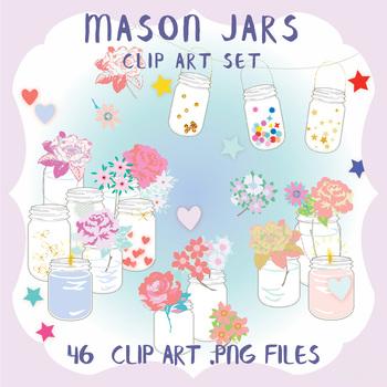 Clip Art: Mason Jars