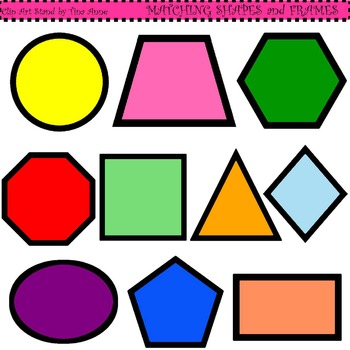 Clip Art Matching Shapes and Frames Combo