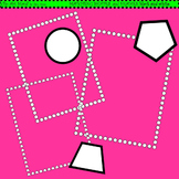 Clip Art Matching Shapes and Frames black and white