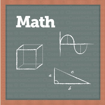 Clip Art: Math Images, Basic Operations, Shapes, & Tools