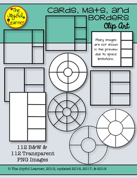 Clip Art: Cards, Mats, & Borders (Save time as you create new resources!)