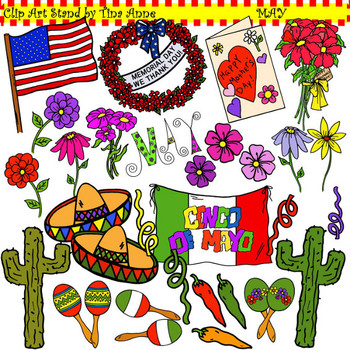 Clip Art May in color