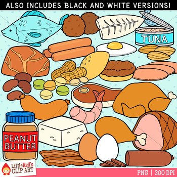 Meat and Alternatives Food Clip Art