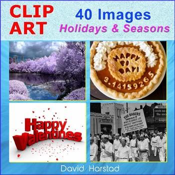 Clip Art & Posters | 40 Images Holidays & Seasons (Grades K-12)