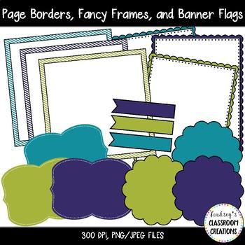 NEW! Clip Art Mini Set 3  - Digital Papers, Frames, Borders, and More
