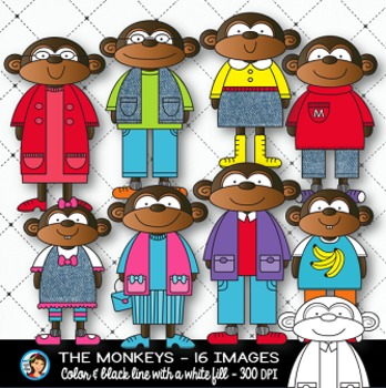 Clip Art Monkeys