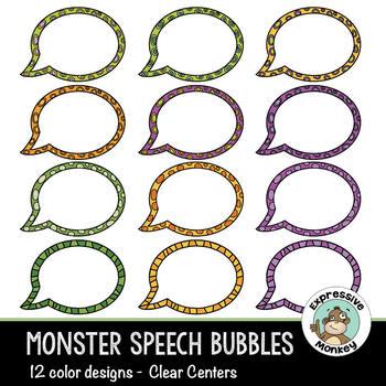 Clip Art: Monster Speech Bubbles