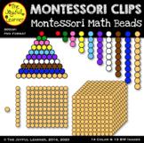 Clip Art: Montessori Math Beads  (Without Wire)