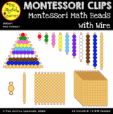 Clip Art: Montessori Math Beads (with Wire)