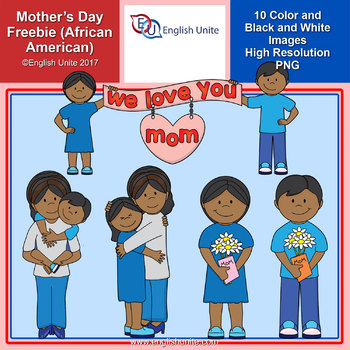 Clip Art - Mother's Day Freebie (African American)