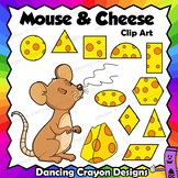Clip Art Mouse and Cheese   Clipart Set