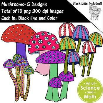 Mushrooms Clip Art