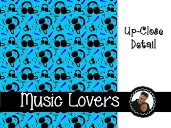 Clip Art~ Music Lovers Digital Paper Collection