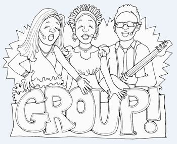 Clip Art: Music Rock Stars Reading Group by HeatherSArtwork