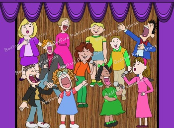 Clip Art Musical Enthusiastic Soloists