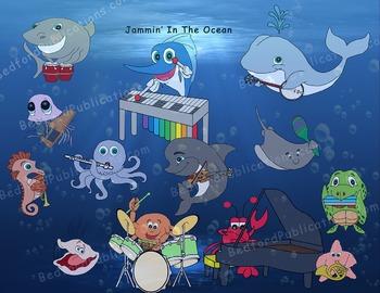 Clip Art Musical Sea Life