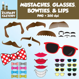 Clip Art: Mustaches, Lips, Glasses, and Bowties - Misc