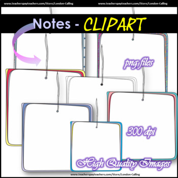 Clip Art - NOTES - B&W version included!