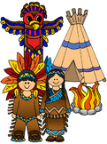 Clip Art~ Native Americans (Indians, Thanksgiving)
