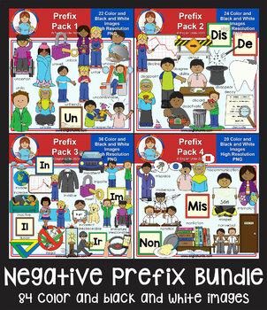 Clip Art - Negative Prefix Bundle