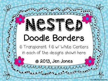 Clip Art: Nested Doodle Borders/Frames (Personal & Commercial Use)