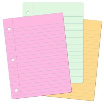 Clip Art: Notebook Paper Digital Papers for Personal and Commercial Use