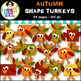 Clip Art ● November 2016 FREEBIE ● Turkey Shapes ● Products for TpT Sellers