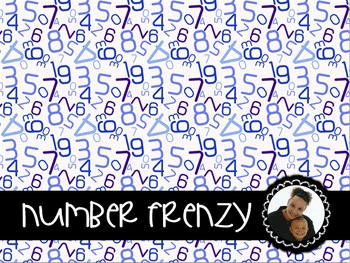 Clip Art~ Number Frenzy Digital Paper Collection