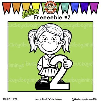 Clip Art Number 2 Kid - FREE! Adorable Squishies