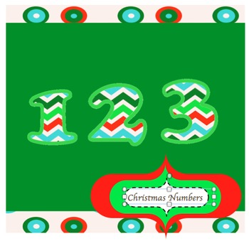 Clip Art Numbers : Snowy Christmas Color Palette (personal / commercial)