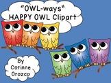 "Clip Art - ""OWL-ways"" Happy Owl Clip Art"