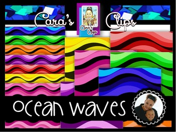 Clip Art~ Ocean Waves Digital Paper Collection