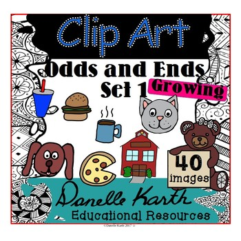 Clip Art - Odds and Ends with 80 Images and Easy Commercial TOU!