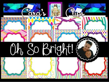 Clip Art~  Oh, So Bright! Ready-Made Product Covers & Task Cards
