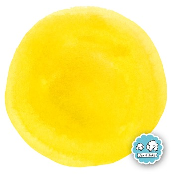 Clip Art: Orange/Yellow Watercolor Dots / Circles Personal and Commercial Use OK