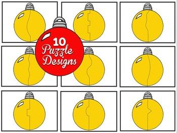 Clip Art~ Ornament Puzzles / Task Card Templates