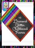 Clip Art ~ Diamond Glitter Chalkboard Frames - Fantastic Followers Celebration