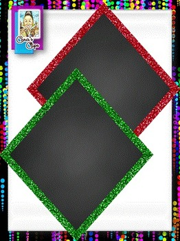 Clip Art ~ Diamond Glitter Chalkboard Frames - Fantastic Followers Celebration