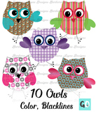 Owls Clipart, Clip Art Owls
