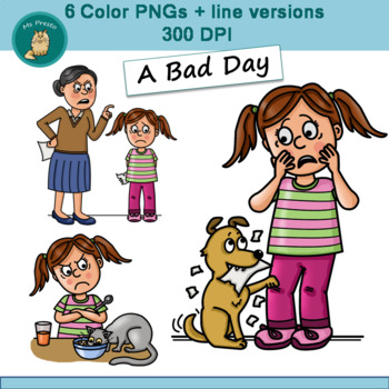 Clip Art PNGs - A Bad Day