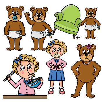 clip art pngs goldilocks and the three bears by ms presto tpt rh teacherspayteachers com goldilocks clipart free goldilocks clipart